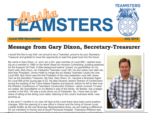 Local 959 Newsletter
