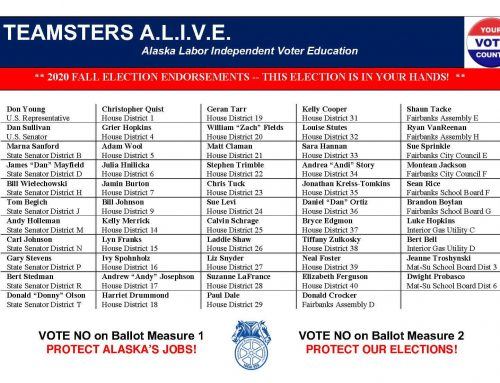Teamsters A.L.I.V.E. Candidates – Fall Election