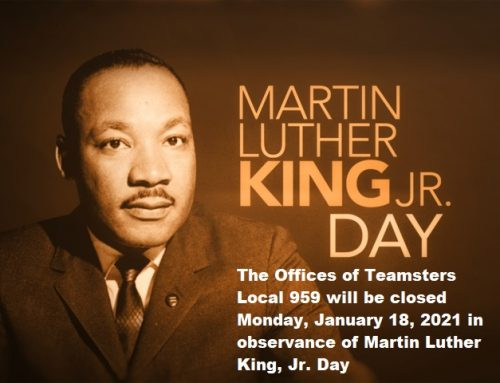 Martin Luther King, Jr. Day Closure